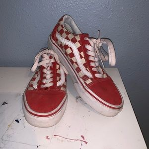 Red and White Checkered Old Skool Vans